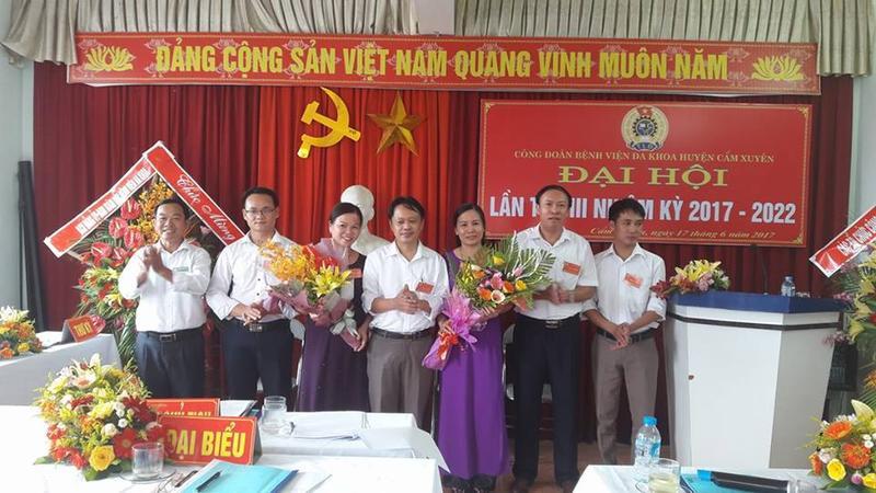 Đại hội Công đoàn cơ sở Bệnh Viện Đa Khoa Huyện Cẩm Xuyên lần thứ III Nhiệm kỳ 2017-2022