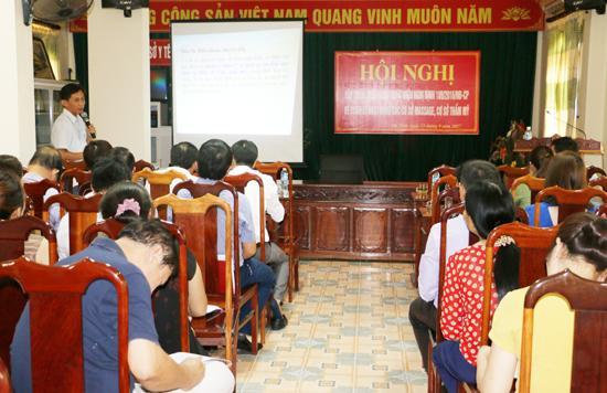 Tập huấn hướng dẫn quản lý hoạt động các cơ sở massage, cơ sở thẩm mỹ